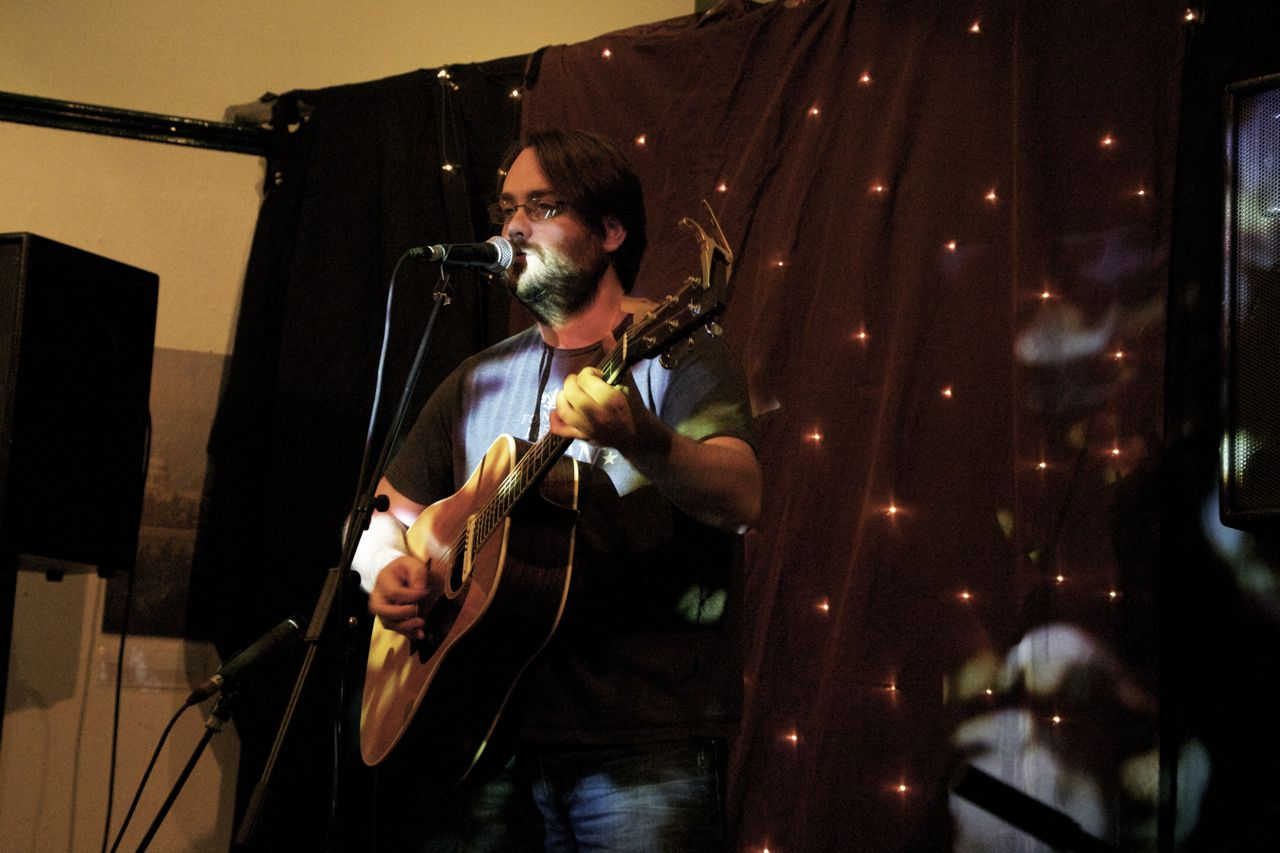 Rob Finlay on stage at The Old Town Hall in Hemel Hempstead