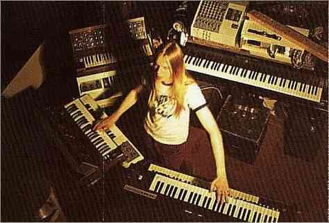 Rick Wakeman playing keyboards