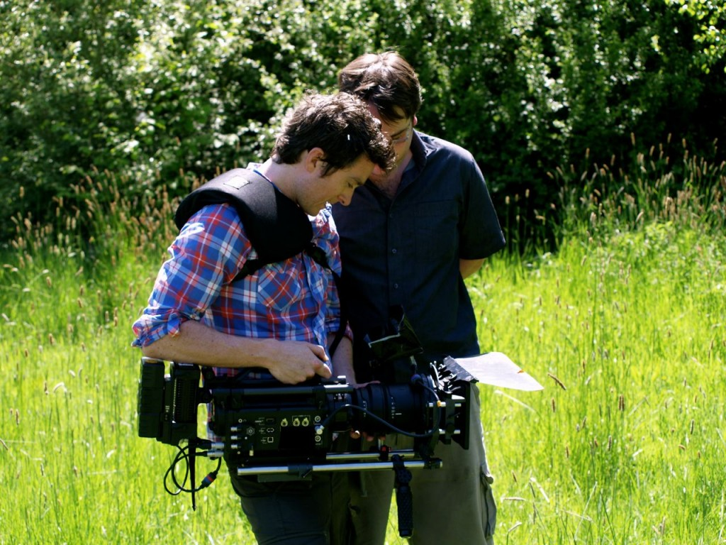 Rob Finlay Directing a shot with Carl Burke (DOP)