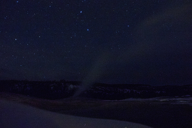 Alone with Old Faithful & the Stars