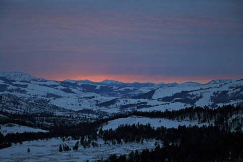 Day 62 - Sunrise over Yellowstone