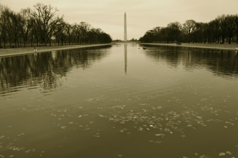 Day 78 - Washington Monument from Lincoln Memorial