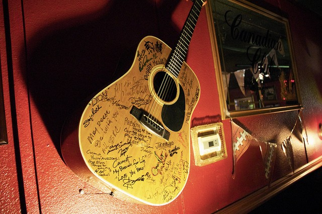 My Signature on the Guitar of Fame