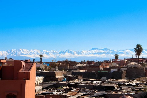 View of Marrakesh from roof tops
