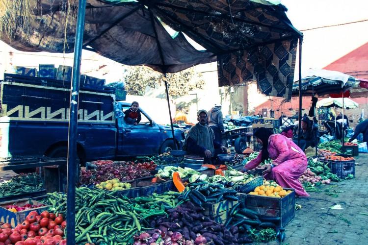 Marrakesh buying vegetables