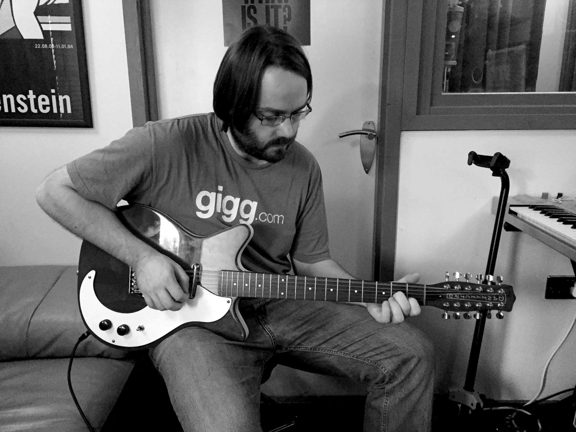 Rob Finlay playing baritone guitar on Rob Finlay EP HALF_HEARD