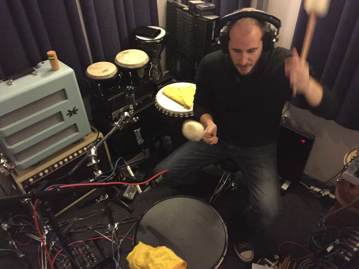Dan Earley playing percussion on Rob Finlay EP HALF_HEARD