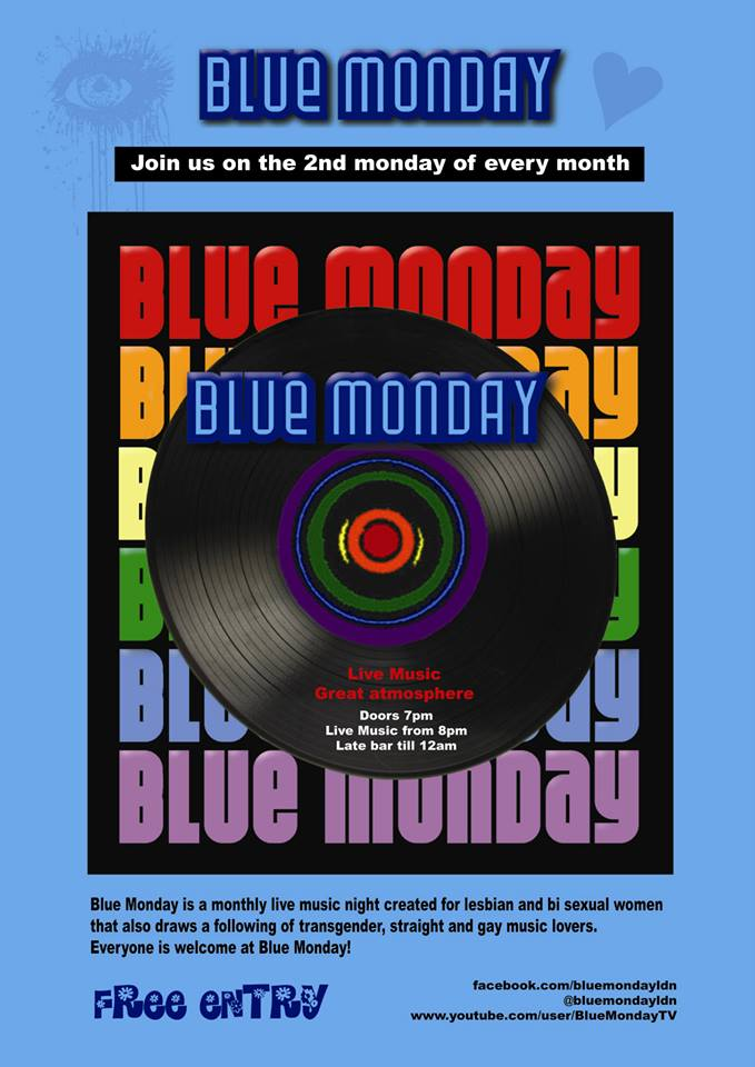 Blue Monday gig poster