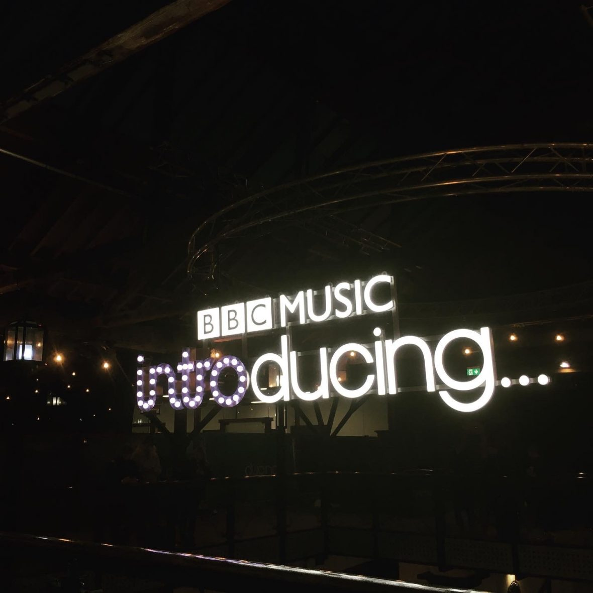 BBC Music Introducing LIVE sign.